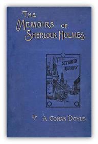 Capa do livro As memórias de Sherlock Holmes de Sir Arthur Conan Doyle