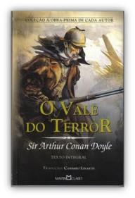 Capa do livro O Vale do Terror de Sir Arthur Conan Doyle