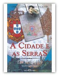 Capa do livro A Cidade e as Serras de Eça de Queirós