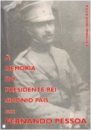 Capa do livro À Memória do Presidente-rei Sidónio Pais