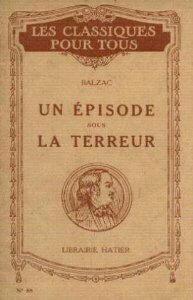 Capa do livro Um Episódio no Tempo do Terror de Honoré de Balzac