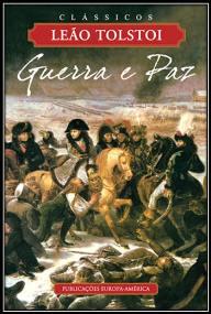 Capa do livro Guerra e Paz de Leão Tolstoi