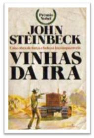 Capa do livro As Vinhas da Ira de John Steinbeck