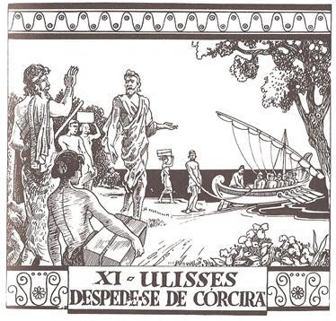 XI - Ulisses despede-se de Córcira
